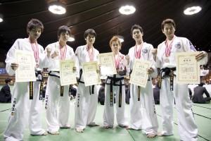 全日本大会での団体戦メンバー